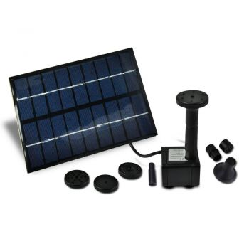 Solar Powered Fountain Outdoor Fountains Submersible Water Pump PondDesign B]