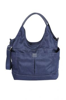 Tote Slouch Nappy Bag - Denim Blue