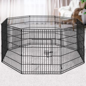 """i.Pet 30"""" 8 Panel Pet Dog Playpen Puppy Exercise Cage Enclosure Fence Play Pen"""