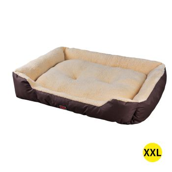 PaWz Pet Bed Soft and Calming Cushion XXL Mattress for Pet Dogs and Cats in Brown