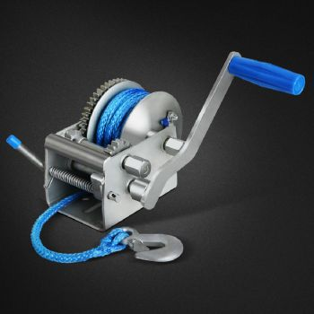 2000KG/4410LBS 3 Speed Hand Winch Dyneema Synthetic Rope Boat Car 10M Giantz