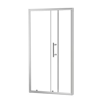 Levede Bathroom Glass Shower Enclosure Screen with Seal Strip 900 x 1900mm