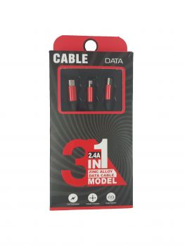 S01 - PLANET TALK - 3 IN 1 DATA USB CABLE