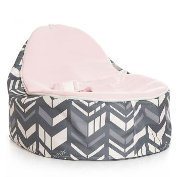Chibebe Chevron Baby Bean Bag - Pink