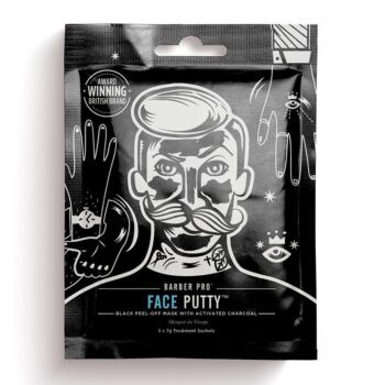 BarberPro Face Putty Black Peel Off Face Mask with Activated Charcoal (3 x 7g)