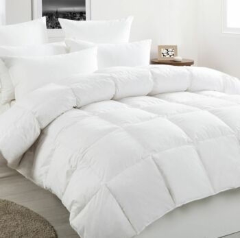 Dreamaker 50/50 White Duck Down & Feather Winterweight Quilt - Single Bed