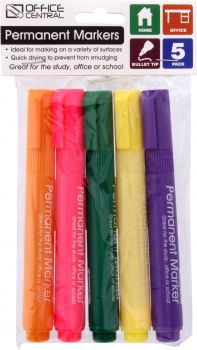 Markers Permanent (Coloured) 5pk
