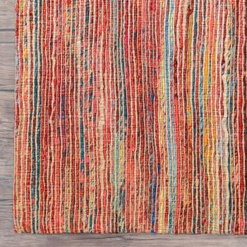 """Hand Made  Recycled Silk Jute Flatweave Rug """"Jaipur"""" in Red. Size 160x230 cm"""