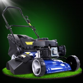 Lawn Mower 19 inch 175cc Petrol Powered Push Lawnmower 4 Stroke 4IN1