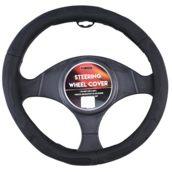 New York Steering Wheel Cover - Black