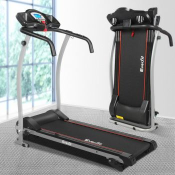 Everfit Electric Treadmill R01360 12km/h Running Walking Exercise Machine Folding Fitness Equipment Home Gym Physical Black