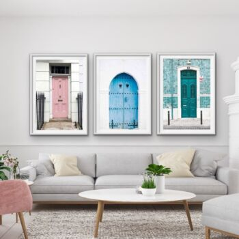 Doors Of The World - Mismatched Colourful Doors Photographic Wall Art Prints