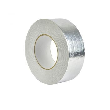 Reinforced Aluminium Foil Silver Adhesive Sealing Heating Duct 50m x50mm