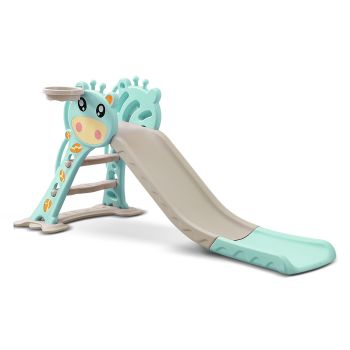 BoPeep Baby Slide with Basketball Hoop Playset in Blue Colour