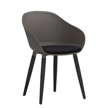 UNITY Arm Chair - Taupe & Black
