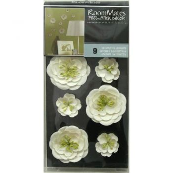 ROOMMATES White Flower Wall Embellishments