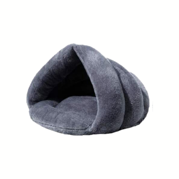 Floofi Pet Cave Bed Mat Padded Soft Warm Sleeping Bag Nest House Dog Puppy for Winter - Large Grey