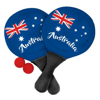 AUSTRALIA DAY NEOPRENE BEACH PADDLE SET WITH BALL 39x22CM
