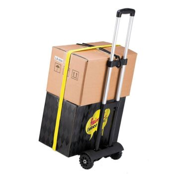 Portable Fold Up Dolly Folding Hand Truck Compact Trolley Cart