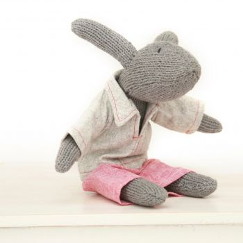 Rupert Rabbit with wool pants and top