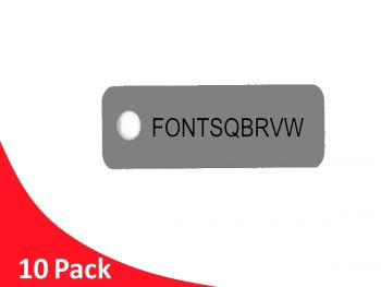 Label Tag 60x30 G316 Stainless Steel