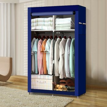 Large Portable Clothes Closet Wardrobe Storage Organiser with Shelves