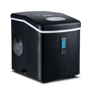 Devanti 3.2L Portable Ice Maker Commercial Machine Making Stainless Steel Ice Cube Black
