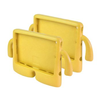 2 x Shockproof Tough Rubber Safe Tablet Case in Yellow Colour