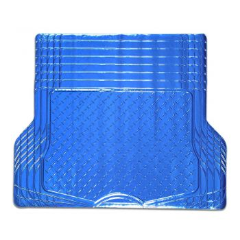 Aluminium Look 1-Piece Boot Mat - Blue [Rubber/Aluminium Look]