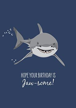 Birthday Card - Great White Shark
