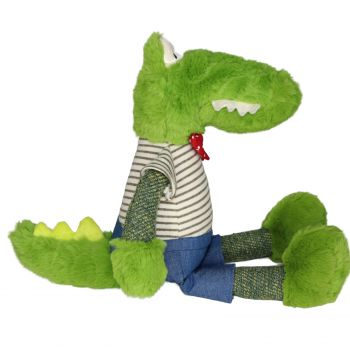 Plush Toy Crocodile - Red/White