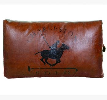 Large Charleston Polo Hand Made Cushion