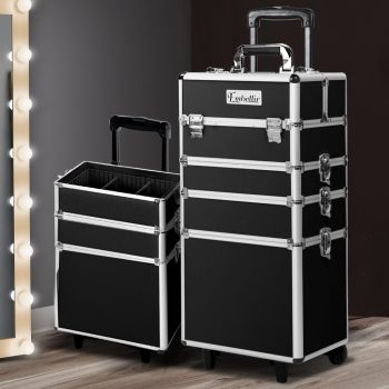 Embellir 7 In 1 Professional Makeup Case Travel Trolley Beauty Cosmetic Box