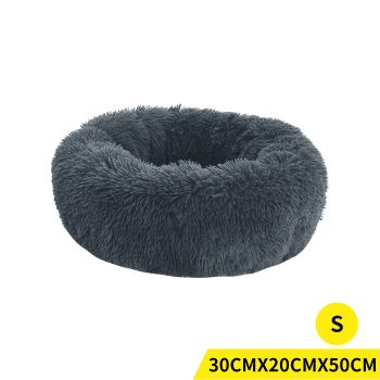 PaWz Soft Winter Cushion Pet Bed for Cats and Dogs S in Dark Grey