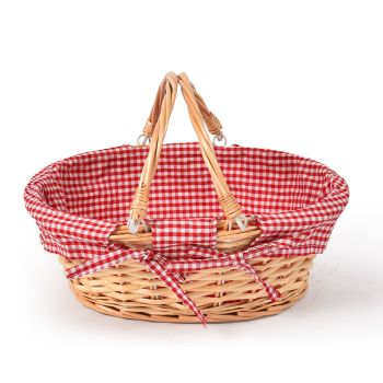 Oval Shaped Foldable Outdoor Picnic Basket