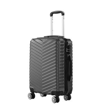 "20"" Travel Luggage Suitcase Case Lightweight Trolley Cases in Grey"
