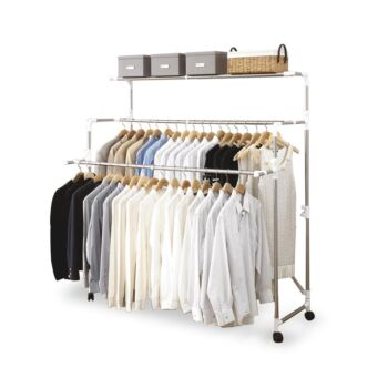 Heavy Load Large Foldable Rolling Clothes Airer Laundry Drying Rack