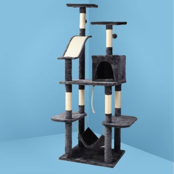 i.Pet Cat Tree Trees Scratching Post Scratcher Tower Condo House Furniture Wood 171cm