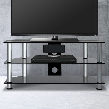 Artiss TV Stand Entertainment Unit 3 Tiers Media Shelf Tempered Glass Cabinet