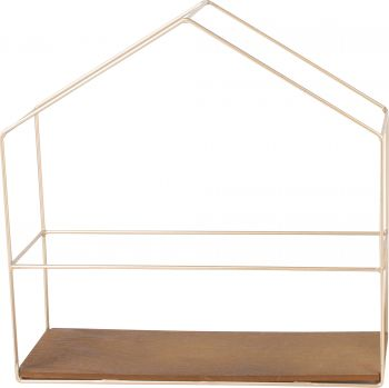 *** CASA DISPLAY SHELF HOUSE 30 X 30 X 10CM GOLD