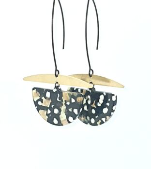 Speckled Raw Brass Dangles