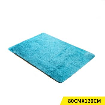 Designer Shaggy and Soft Home Decor Floor Rug 80x120cm in Blue