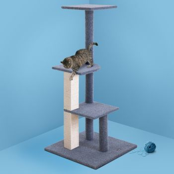 i.Pet Cat Tree Trees Scratching Post Scratcher Tower Condo House Furniture Wood 124cm
