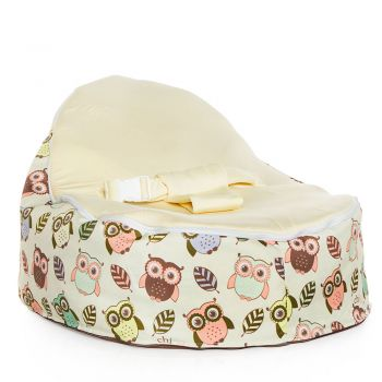Chibebe Hoot Baby Bean Bag - Cream
