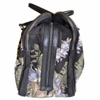 Dries Van Noten Large Floral Print and Leather Weekend Bag