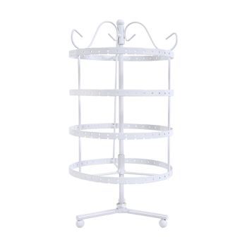 6 Tier Jewellery Display Stand for Earrings in White