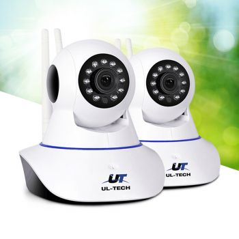ULtech Wireless IP Camera 1080P Outdoor HD Spy WIFI CCTV Security System X2