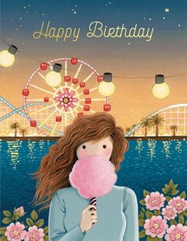 Foil Card-Cotton Candy Birthday
