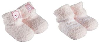 2 Pack Chenille Bootie Socks Pink
