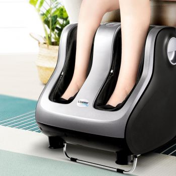 Foot Massager Shiatsu Electric Leg Massagers Machine Ankle Calf 3D Roller Kneading Rolling Exercising Muscle Relaxing Soothing Relief Home Charcoal Grey